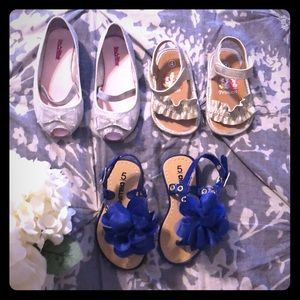 Girls shoes lot size 4, 5, and 8C (AA15)
